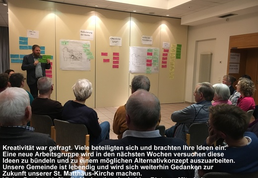 Ideenworkshop Alternativen zum Kolumbarium 14.03.2019