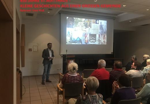 Vortrag mit Uwe Plaß zum Jubiläum (17.09.2019, Gemeindehaus Melle)