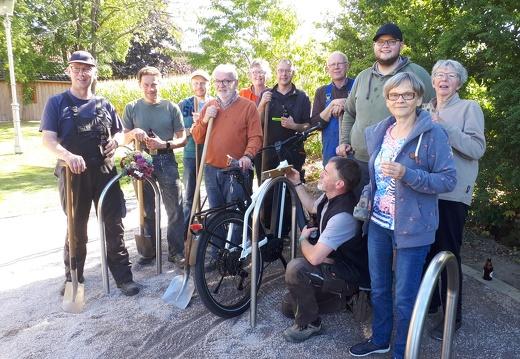 Bau des Fahrradstellplatzes Sondermühlen