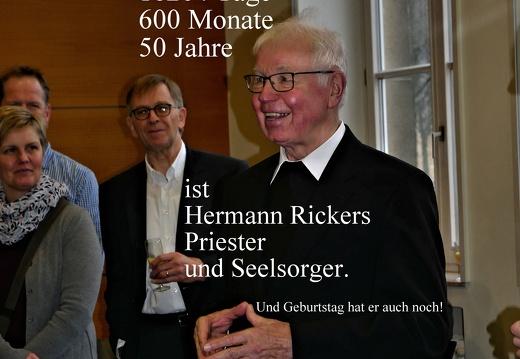 Hermann Rickers 50 Jahre Priester und Seelsorge