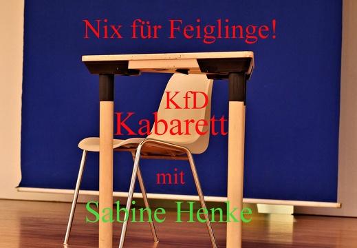 Nix für Feiglinge! Kabarett KfD Melle mit Sabine Henke