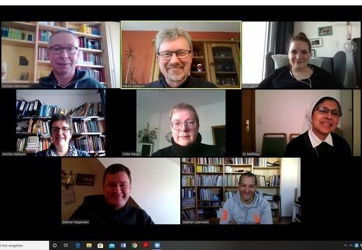 Videokonferenz zur Dienstbesprechung des Pastoralteams St. Matthäus Melle