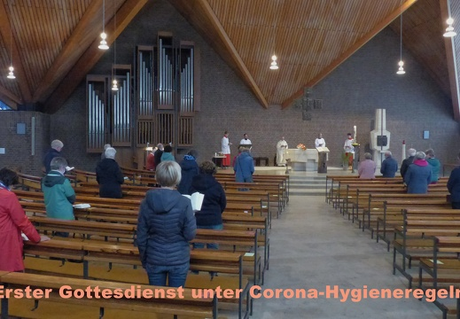 Erster Gottesdienst unter Corona-Hygiene-Bedingungen 16.05.2020