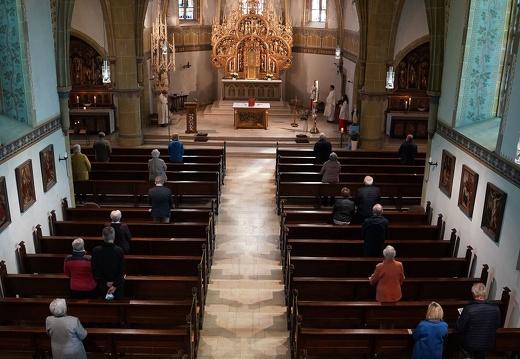 1. Gottesdienst unter Corona - Bedingungen / St. Johann - Riemsloh