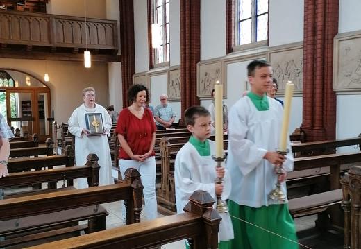 1. Wort Gottes Feier unter Corona-Hygiene-Bedingungen in St. Marien Sondermühlen  28.06.2020