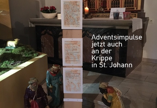 Adventsweg an der Krippe in Riemsloh 6.12.2020